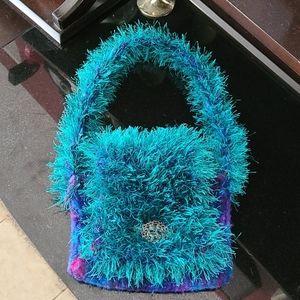 Boho Hand Knitted Purse